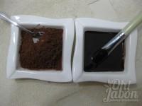 Preparación de la mascarilla de chocolate revitalizante