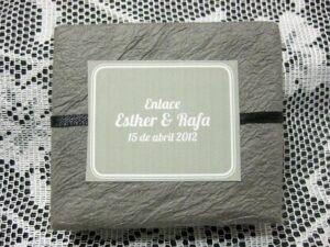 Jabón detalle de boda original Eshter y Rafa