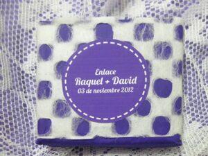 Jabón detalle de boda original Raquel y David