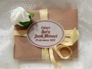 Jabón detalle de boda original Sara y Juan Manuel