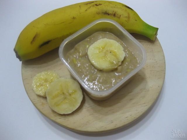 Mascarilla fresca de plátano y avena