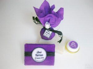 Jabón y bálsamo labial detalles de boda Ana y Ferran