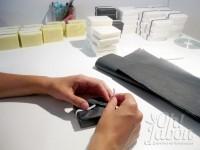 Preparando los jabones artesanales detalles de boda
