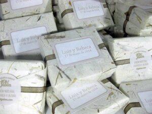 Jabón artesanal detalle de boda Luis y Rebeca