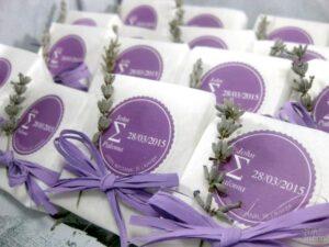 Jabón artesanal de lavanda detalle de boda John y Paloma