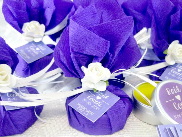 bálsamo labial detalles de boda