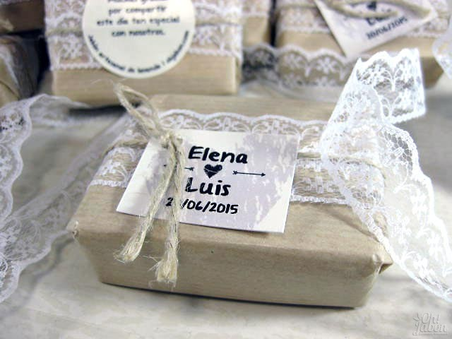 Jabón artesanal detalle de boda Elena y Luis