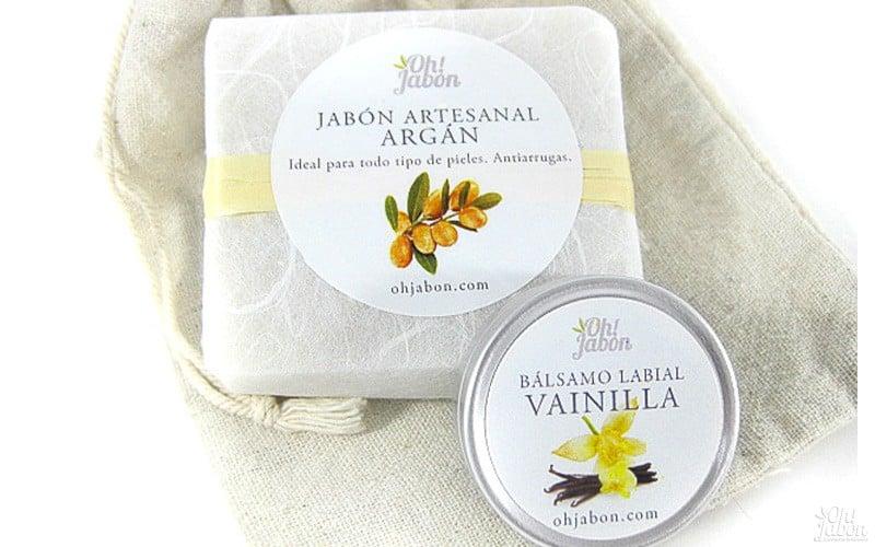 pack de jabón artesanal y bálsamo labial