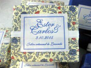 Jabones artesanales boda de Esther