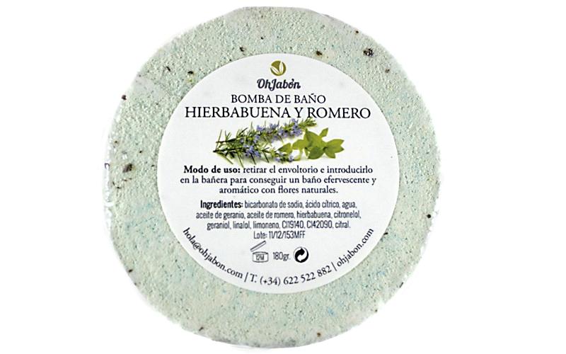 Bomba de baño de Hierbabuena y Romero