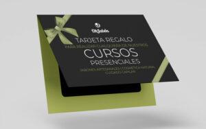 Tarjeta regalo para realizar curso de jabones artesanales o cosmética natural ohjabon